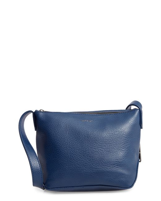 Matt & Nat - Blue Large Sam Faux Leather Crossbody Bag - - Lyst