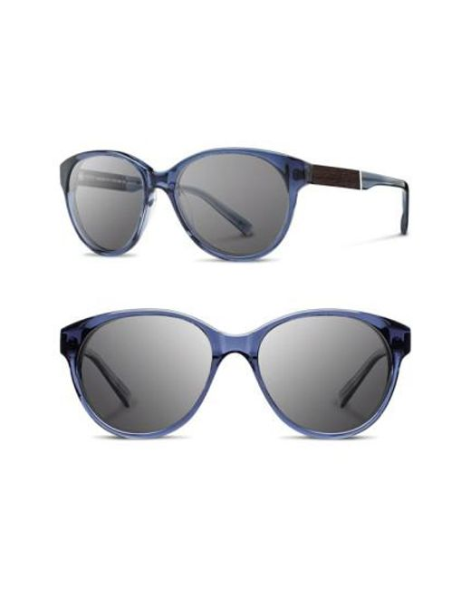 Shwood - Blue 'madison' 54mm Round Sunglasses - Lyst
