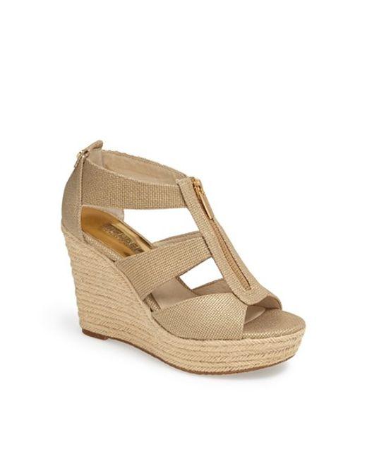 MICHAEL Michael Kors | Natural Damita Wedge Sandals | Lyst