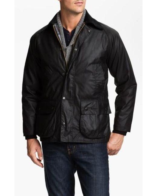 Barbour | Black 'bedale' Regular Fit Waxed Cotton Jacket for Men | Lyst
