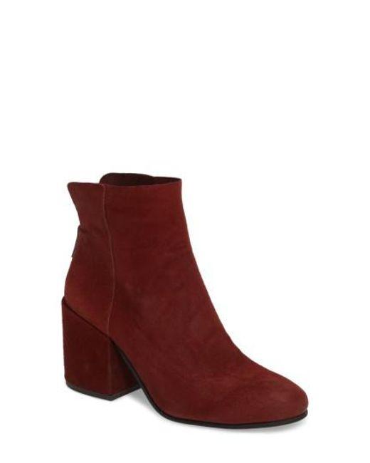Lucky Brand | Red Ravynn Block Heel Bootie | Lyst