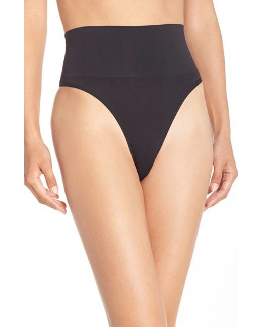 Yummie By Heather Thomson | Black 'jasmine' Shaping Thong | Lyst