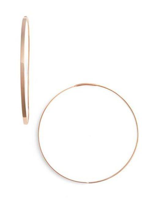 Lana Jewelry | Metallic 'flat Magic' Medium Hoop Earrings | Lyst
