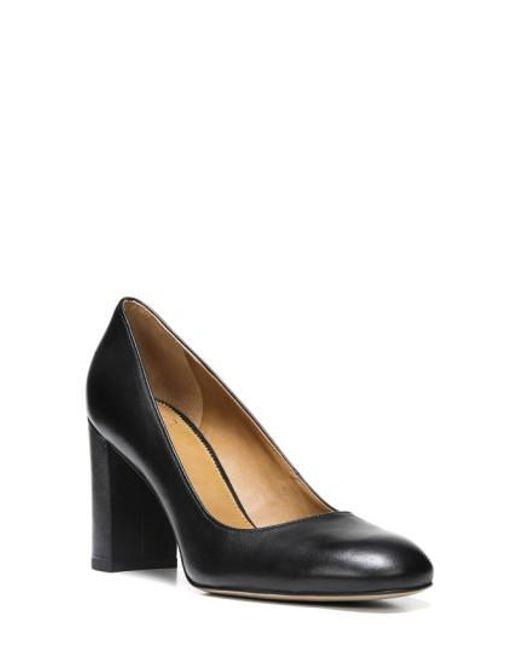 Sarto - Black Aziza Block Heel Pump - Lyst