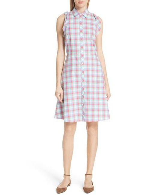 Kate Spade - Multicolor Madras Poplin Shirtdress - Lyst