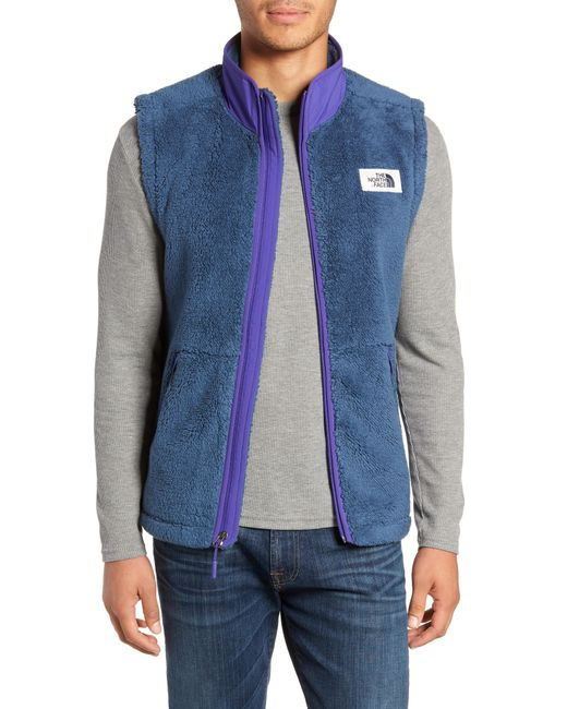 The North Face - Gray Campshire Fleece Vest for Men - Lyst