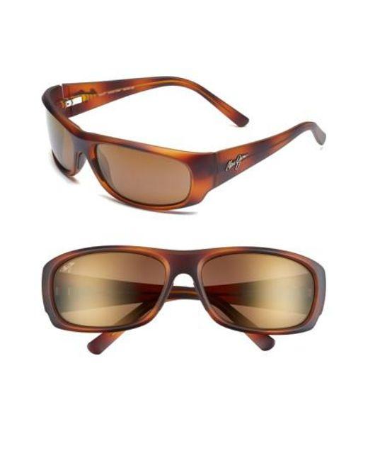 Maui Jim | Brown 'ikaika - Polarizedplus2' 64mm Sunglasses for Men | Lyst
