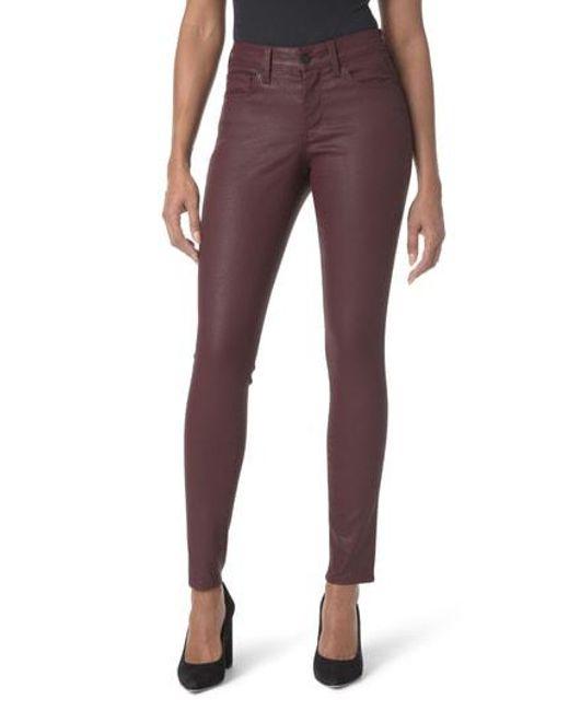 NYDJ - Black High Waist Coated Stretch Skinny Jeans - Lyst
