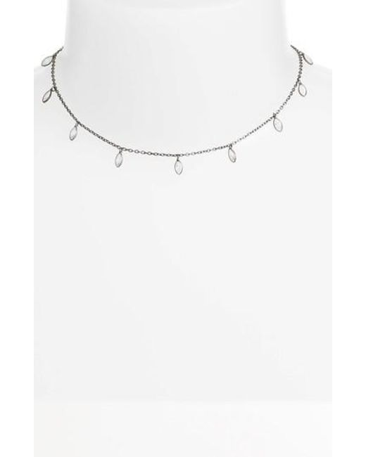 Chan Luu - White Crystal Short Necklace - Lyst