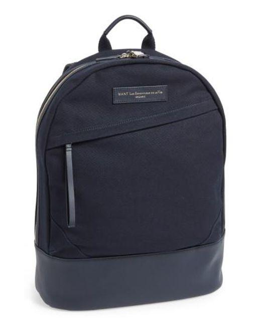 Want Les Essentiels De La Vie - Blue 'kastrup' Backpack for Men - Lyst