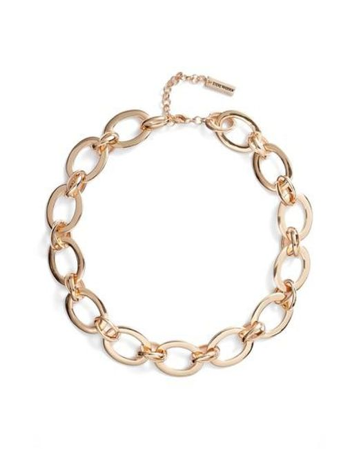 Steve Madden - Metallic Rolo Chain Necklace - Lyst