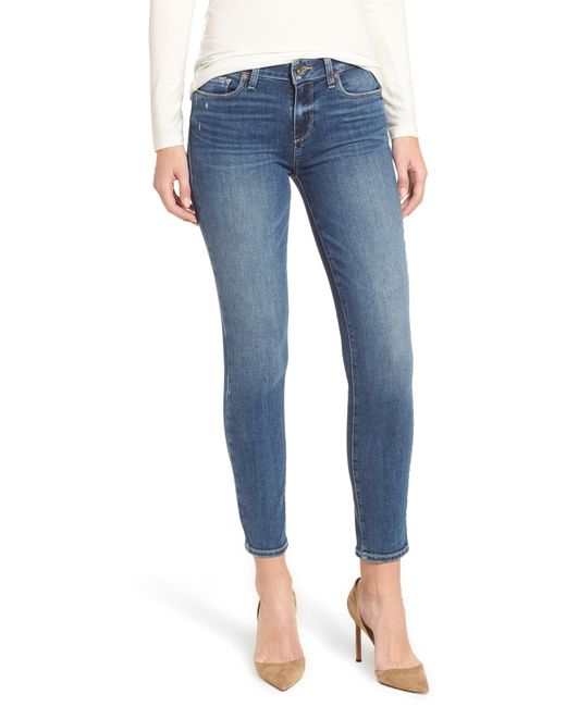 PAIGE - Blue Verdugo Ankle Skinny Jeans - Lyst