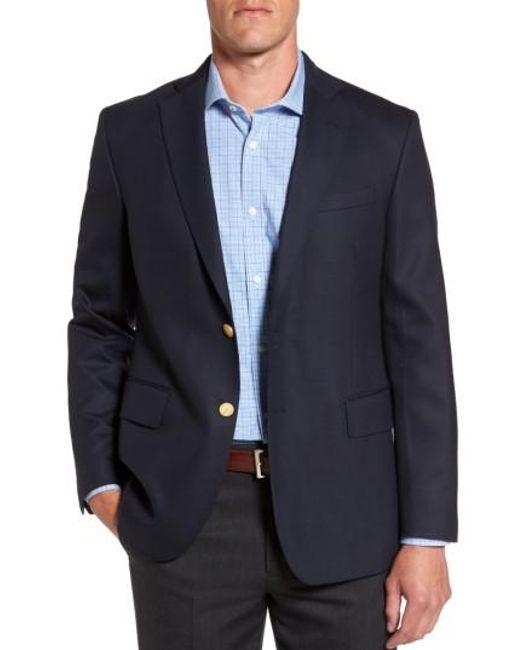 Lyst Vineyard Vines Stretch Wool Blazer In Blue For Men