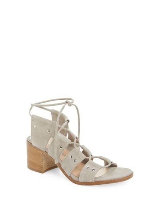 Charles David | Gray Birch Block Heel Sandal | Lyst