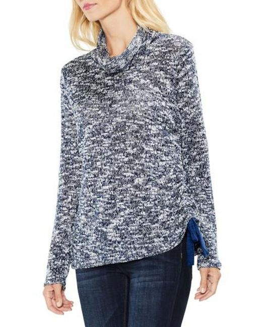 Two By Vince Camuto   Blue Funnel Neck Pullover   Lyst