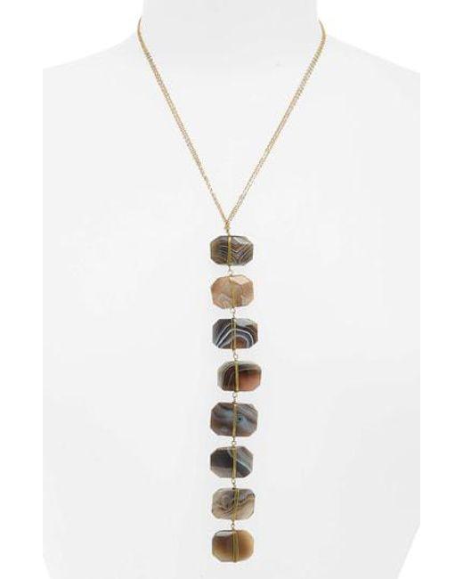 Panacea - Gray Stone Y Necklace - Lyst