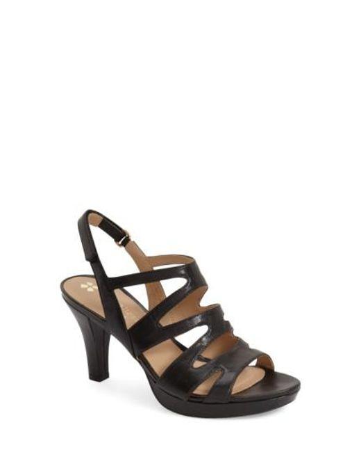 Naturalizer | Black 'pressley' Slingback Platform Sandal | Lyst