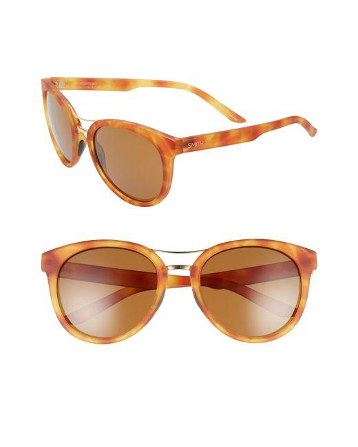 45b7b3f705 Lyst - Smith Bridgetown 54mm Chromapop(tm) Polarized Sunglasses in Brown