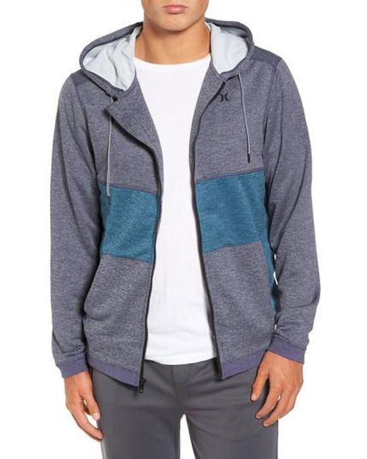 Hurley | Multicolor Dri-fit Disperse Colorblock Zip Hoodie for Men | Lyst