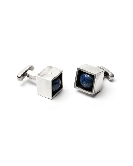Title Of Work - Metallic Stone In Cube Cuff Links for Men - Lyst