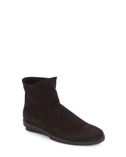 Arche | Black 'detyam' Wedge Zip Bootie | Lyst