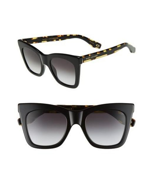 Marc Jacobs - Black 50mm Cat Eye Sunglasses - Lyst