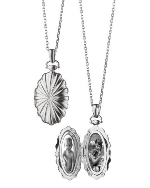 Monica Rich Kosann - Metallic Sunburst Locket Necklace - Lyst