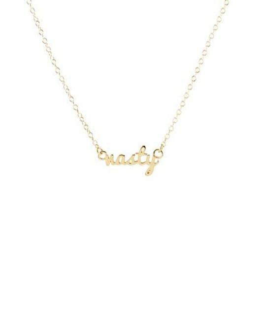 Kris Nations | Metallic Nasty Script Necklace | Lyst