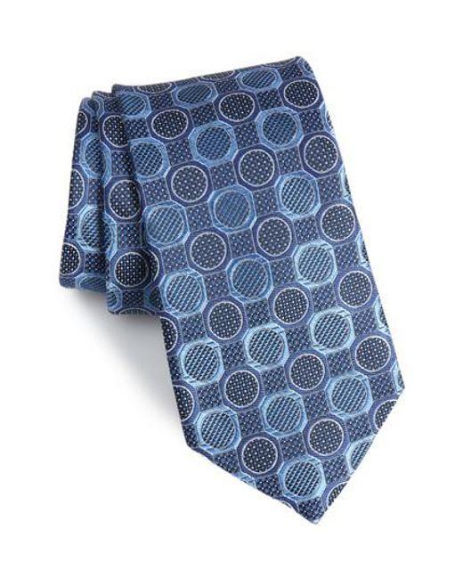 Nordstrom - Blue Cammillo Geometric Tie for Men - Lyst