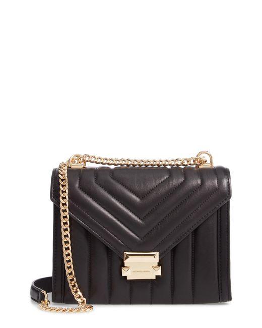 MICHAEL Michael Kors - Black Large Quilted Leather Shoulder Bag - Lyst