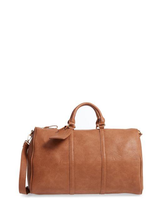 Sole Society  cassidy  Faux Leather Duffel Bag in Brown - Lyst da685c4766f94