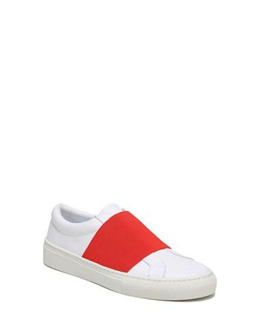 Via Spiga - Red Saran Slip-on Sneaker - Lyst