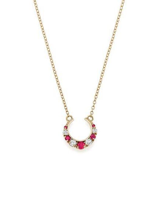 ICONERY - Metallic Stone Fox Gem Pendant Necklace - Lyst