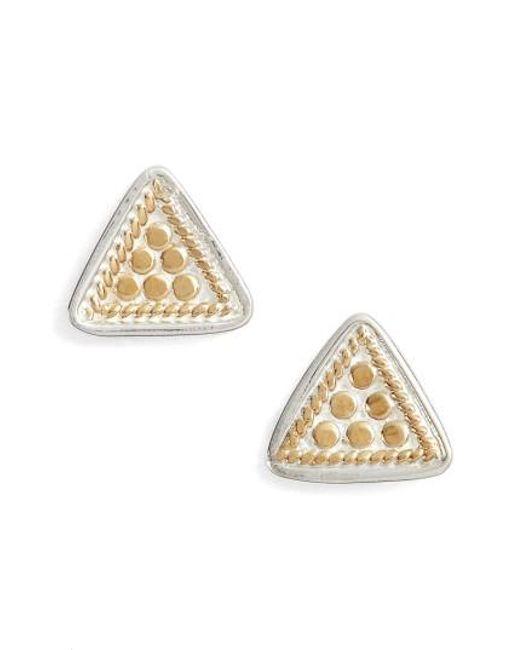Anna Beck | Metallic Mini Triangle Stud Earrings | Lyst
