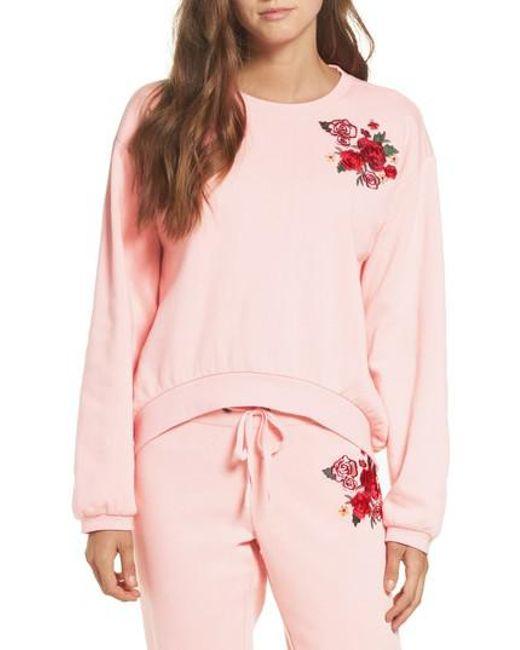 Make + Model | Pink Embroidered Sweatshirt | Lyst