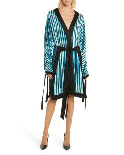 Diane von Furstenberg   Black Velvet Burnout Kimono Dress   Lyst