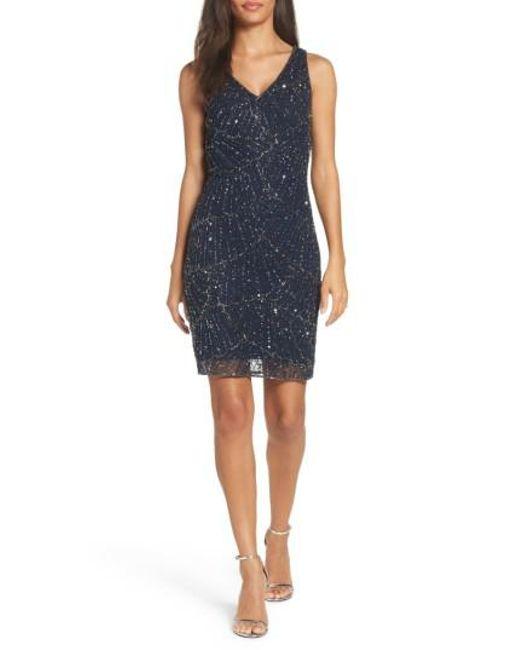 Pisarro Nights | Blue Beaded Sheath Dress | Lyst