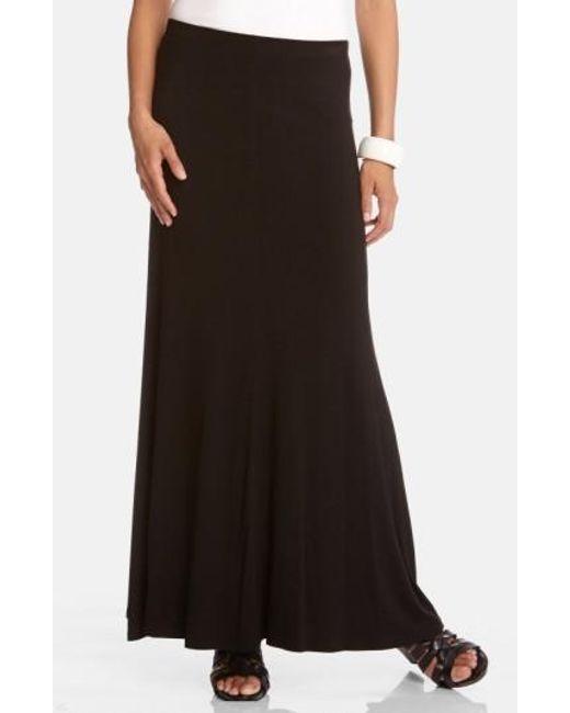 Karen Kane   Black Flared Maxi Skirt   Lyst