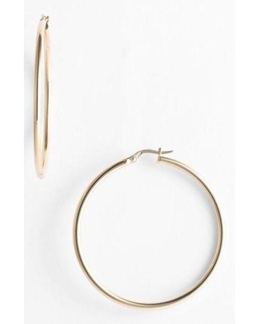 Roberto Coin | Yellow 45mm Gold Hoop Earrings | Lyst