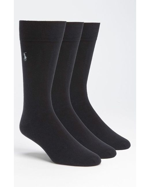 Polo Ralph Lauren | Gray Combed Cotton Blend Socks for Men | Lyst