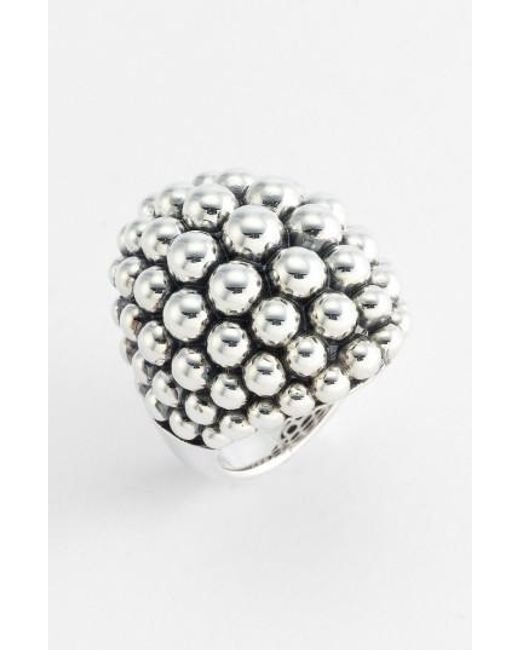 Lagos   Metallic 'bold' Caviar Ring   Lyst