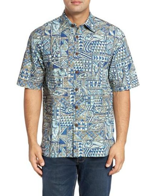 Kahala   Blue Ehukai Classic Fit Print Sport Shirt for Men   Lyst