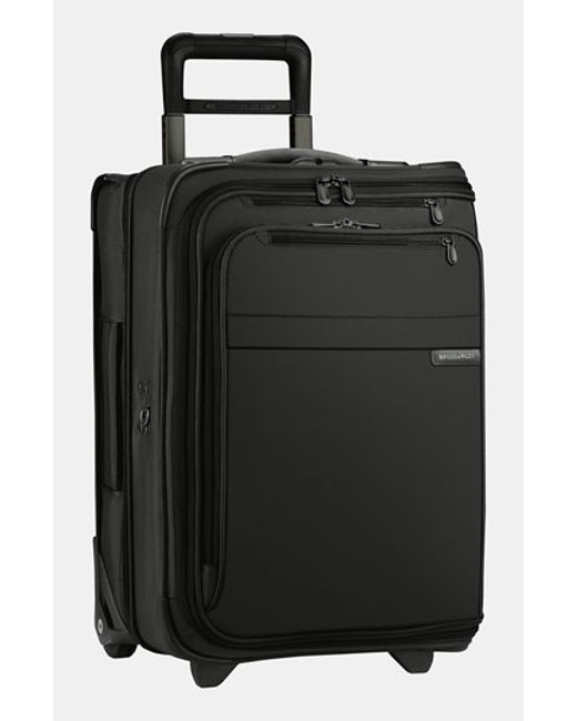 Briggs & Riley | Black 'baseline - Domestic' Rolling Carry-on Garment Bag for Men | Lyst