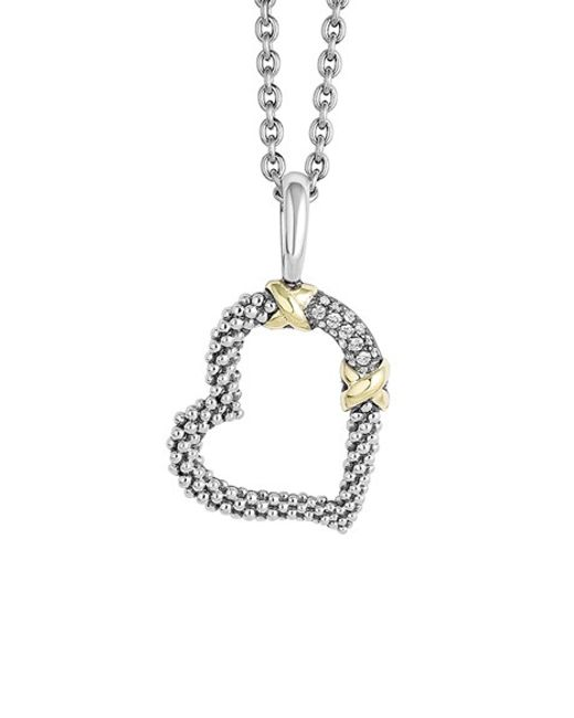 Lagos | Metallic 'diamond Lux' Diamond Heart Pendant Necklace | Lyst