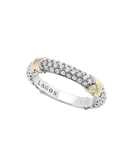 Lagos | Metallic 'diamond Lux' Diamond Band Ring | Lyst