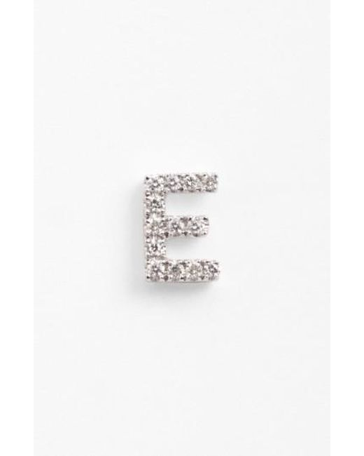 Bony Levy | White Single Initial Earring (nordstrom Exclusive) | Lyst