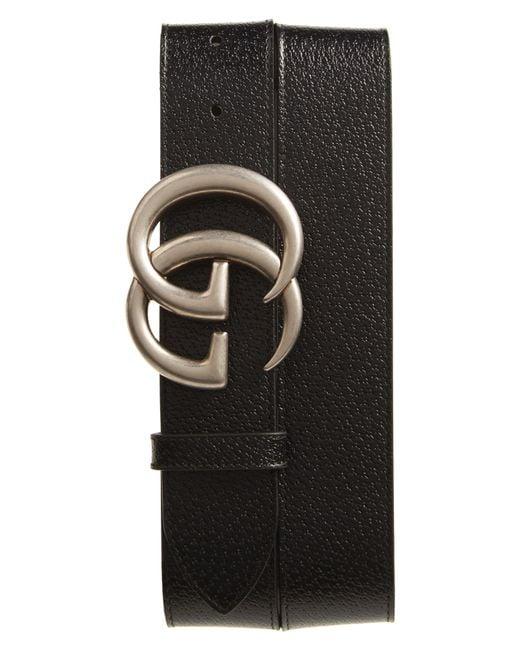Gucci - Black Gg Pebbled Leather Belt for Men - Lyst