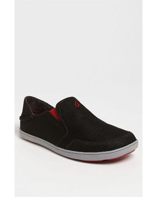 Olukai | Black 'nohea' Mesh Slip-on for Men | Lyst