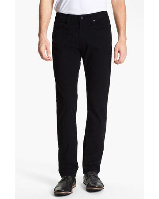 AG Jeans   Black 'matchbox Bes' Slim Fit Pants for Men   Lyst