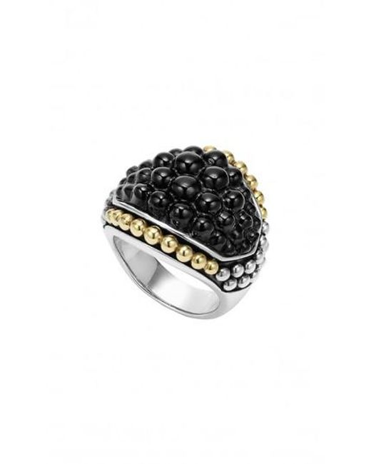 Lagos - Metallic 'black Caviar' Dome Ring - Lyst
